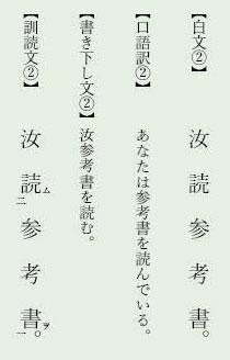 漢文返り点「一二点」例文2