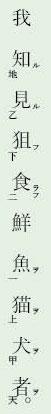 漢文返り点「上下点、甲乙丙丁、天地」例文7