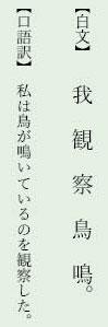 漢文返り点「一二点」例文5