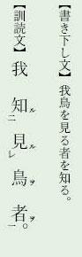 漢文返り点「上下点など」例文2
