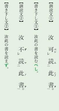漢文「レ点」例文5